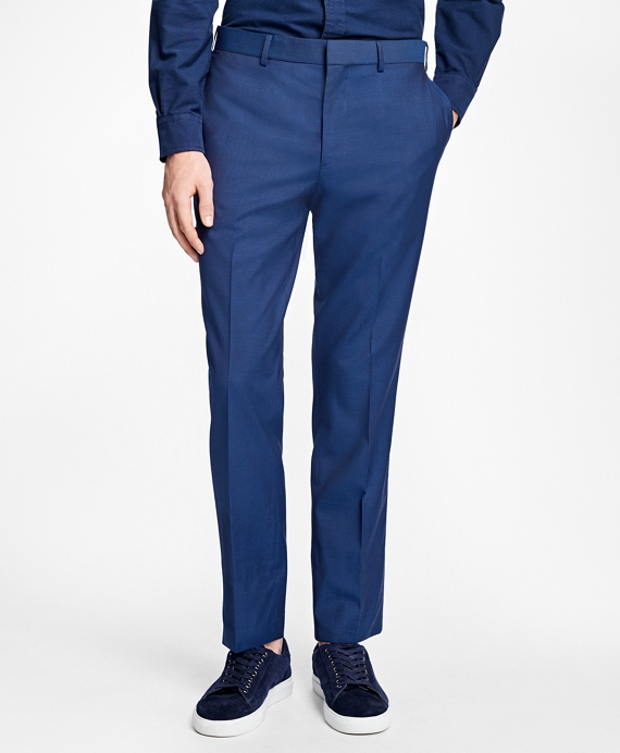 Slim-Fit Stretch-Wool Suit Trousers Blue