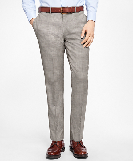 Slim-Fit Plaid Stretch-Wool Trousers