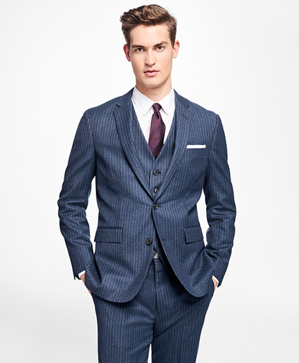 Chalk-Stripe Stretch-Wool Suit Jacket