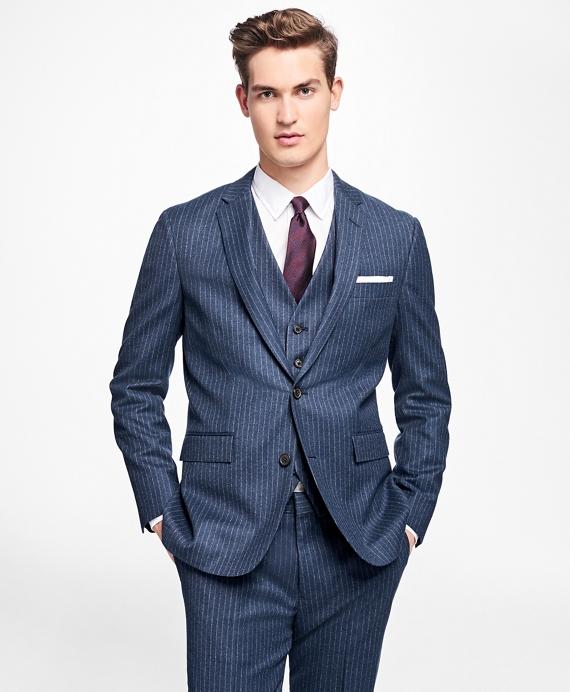 Chalk-Stripe Stretch-Wool Suit Jacket