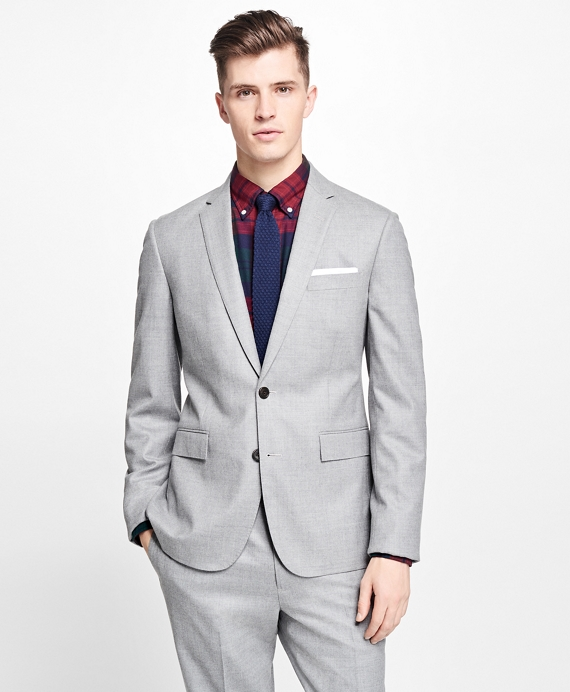 Stretch-Wool Flannel Suit Jacket