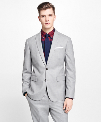 Stretch-Wool Flannel Suit Jacket
