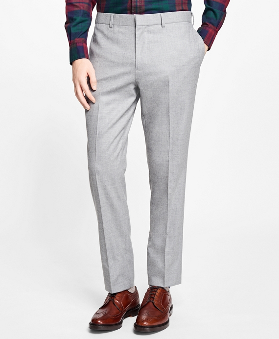 Slim-Fit Stretch-Wool Flannel Suit Trousers Grey