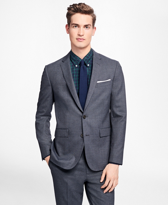 Mini-Check Stretch-Wool Suit Jacket