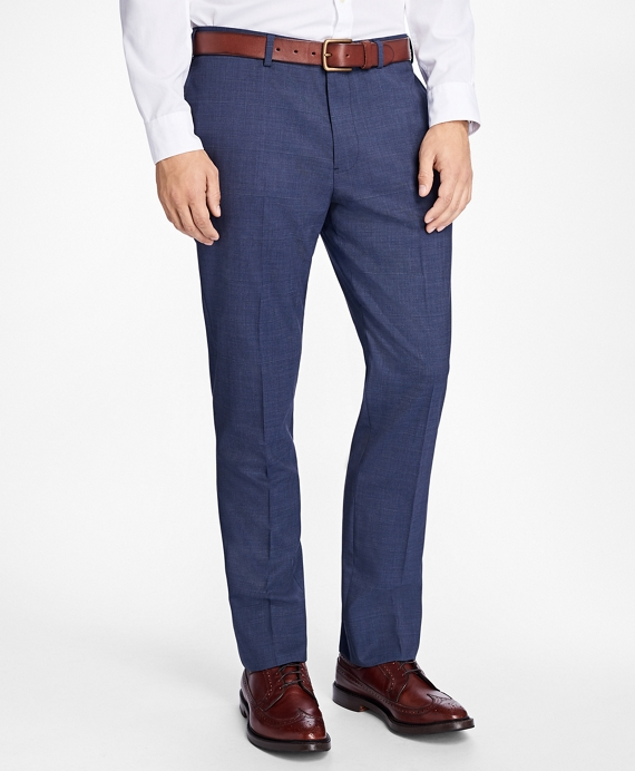 Slim-Fit Stretch-Wool Trousers Blue