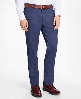 Slim-Fit Stretch-Wool Trousers