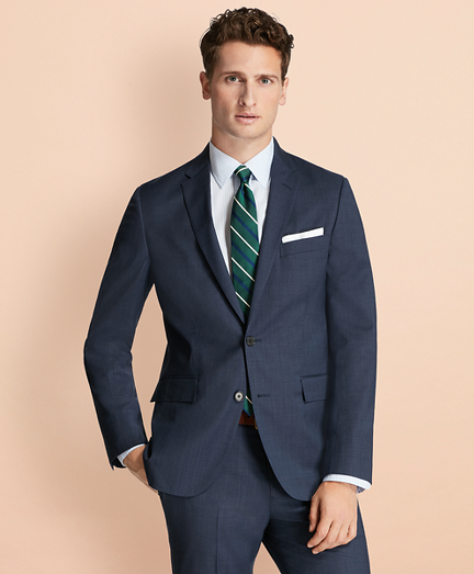 Tick-Weave Wool Suit Jacket