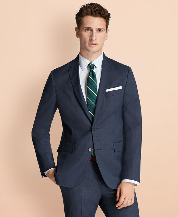 Tick-Weave Wool Suit Jacket Navy