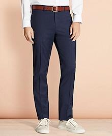 Alternating Pinstripe Wool Suit Trousers