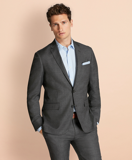 Sharkskin Wool Suit Jacket