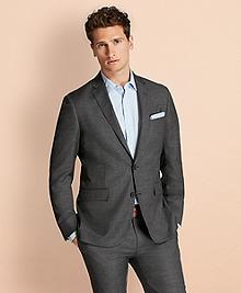 Sharkskin Wool Suit Jacket