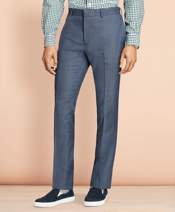 Sharkskin Wool Suit Trousers