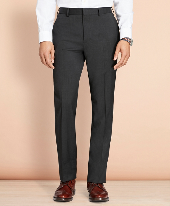 Wool Twill Suit Trousers Grey