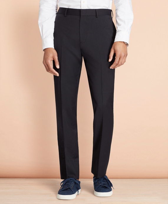 Wool Twill Suit Trousers Navy