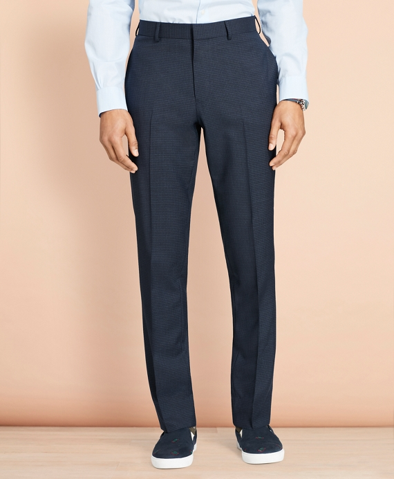 Parquet Wool Trousers Navy