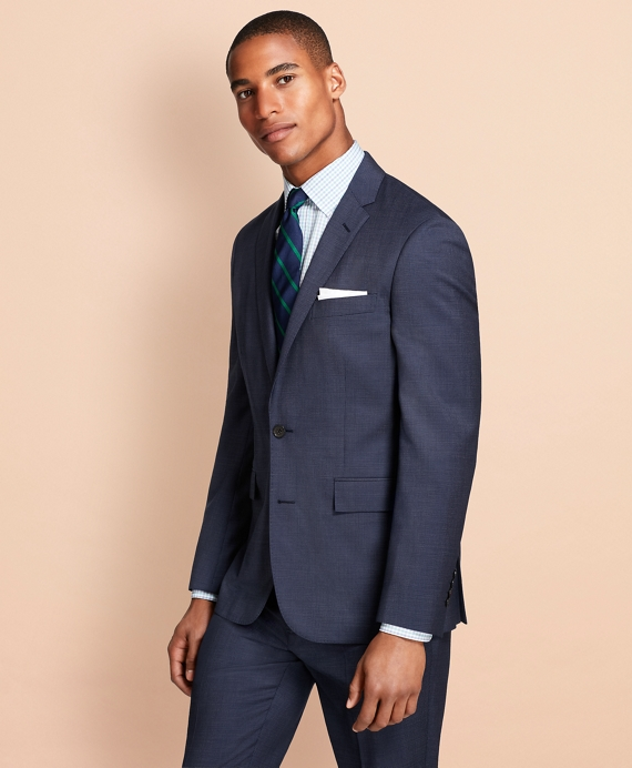 Pin-Dot Wool Suit Jacket Navy