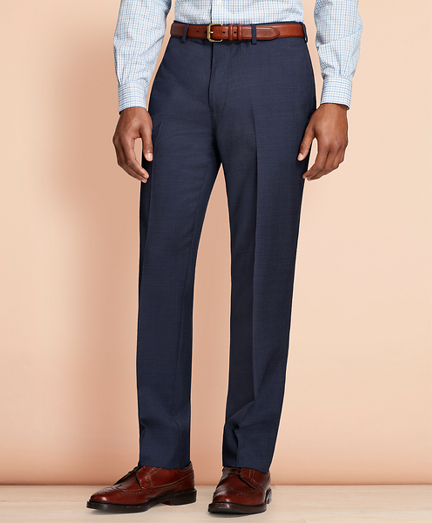 Pin-Dot Wool Suit Trousers