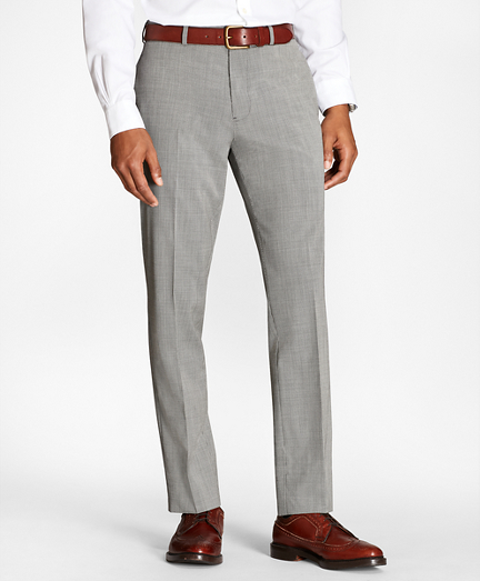 Houndscheck Wool Suit Trousers