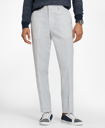 Cotton Seersucker Trousers