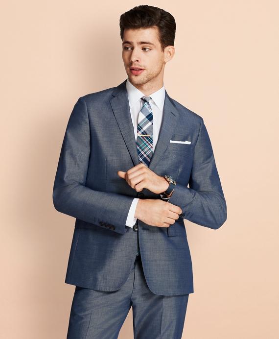 Cotton-Mohair Two-Button Suit Jacket