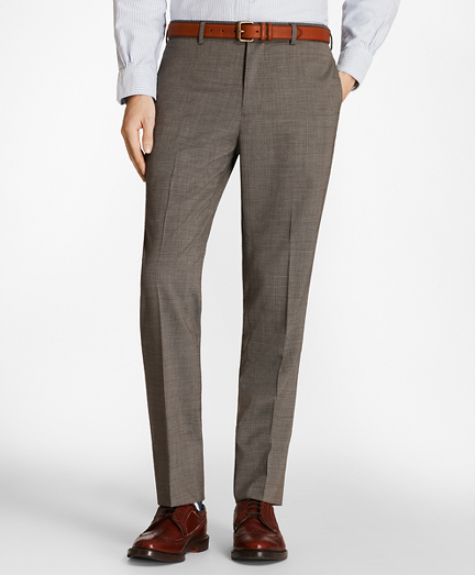 Multi-Check Wool Suit Trousers