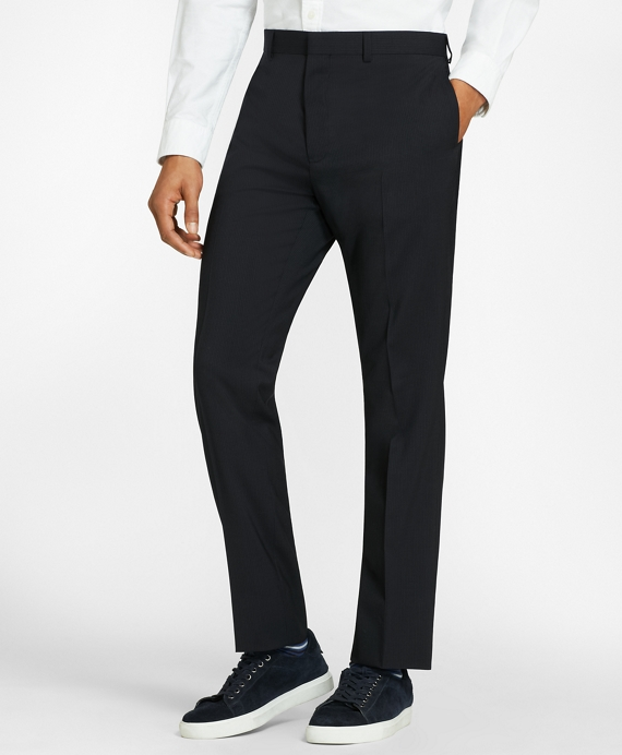 Pinstripe Wool Suit Trousers Navy