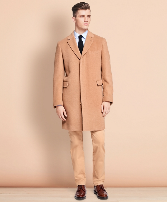 Men's Wool and Camel Hair Topcoat | Brooks Brothers