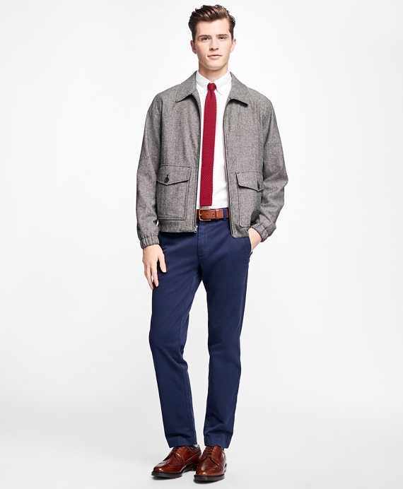 Donegal Tweed Short Jacket Charcoal