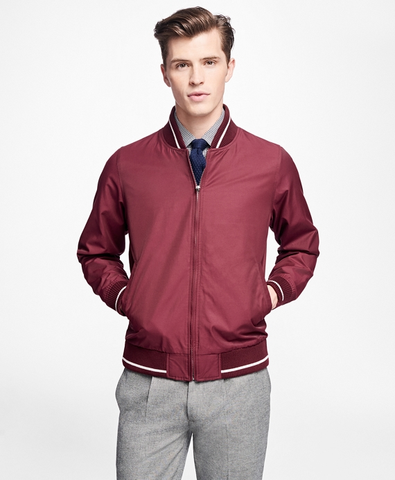 Men's Vintage Style Coats and Jackets Varsity Bomber $228.00 AT vintagedancer.com