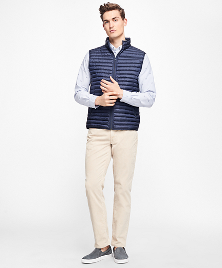 Channel Quilted Down Vest