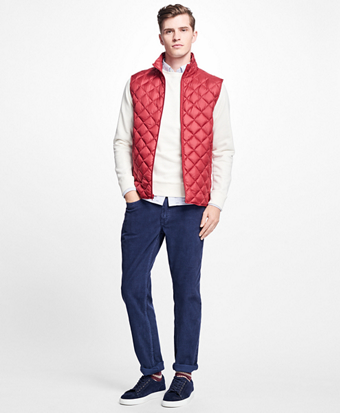 Diamond Quilted Down Vest