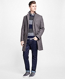 Double-Faced Wool-Blend Topcoat