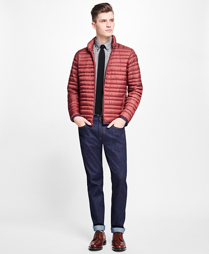 Channel Quilted Down Jacket
