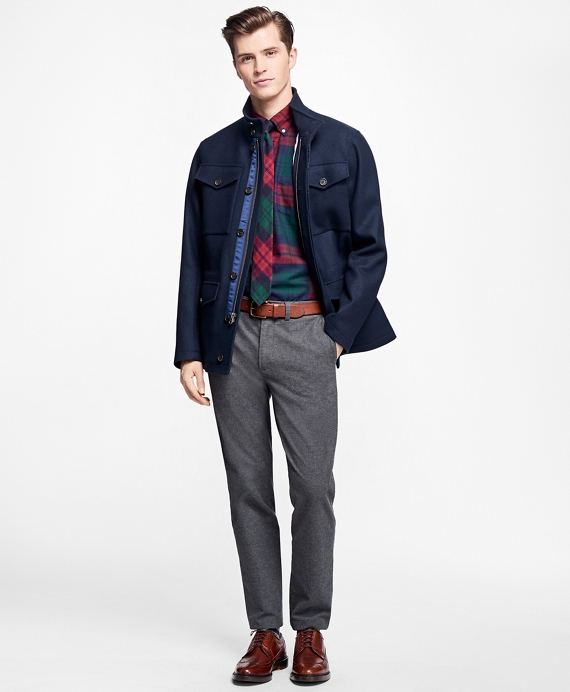 Double-Faced Four-Pocket Jacket Navy