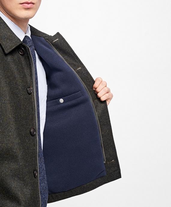 Fleece-Lined Wool Jacket - Brooks Brothers