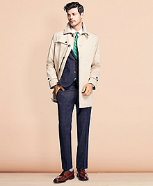 Water-Resistant Single-Breasted Trench Coat
