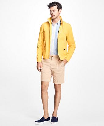 Water-Repellent Stand-Collar Jacket