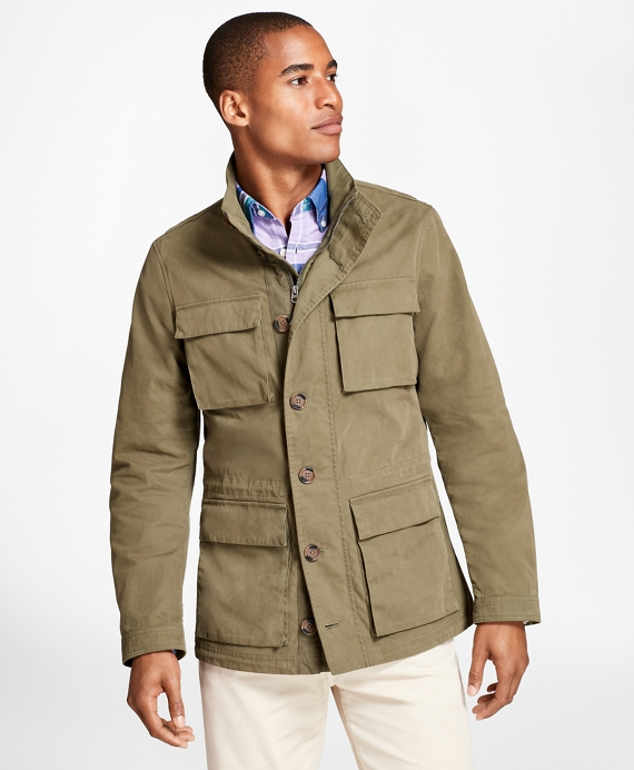 Washed Canvas Field Jacket Olive