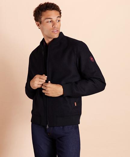 Melton Wool Bomber Jacket