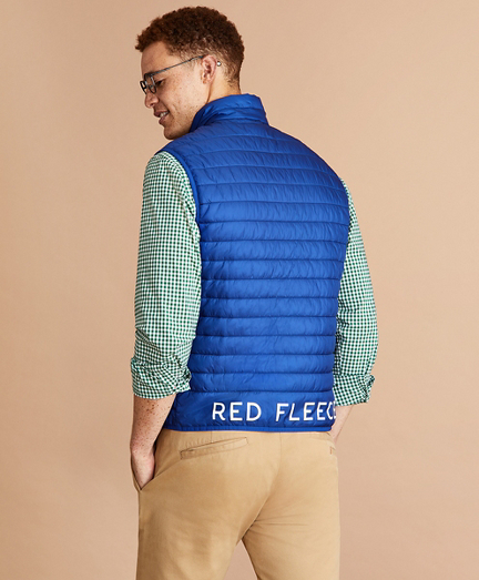 Water-Resistant Red Fleece Puffer Vest