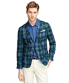 Madras with Tropical Print Motif Sport Coat