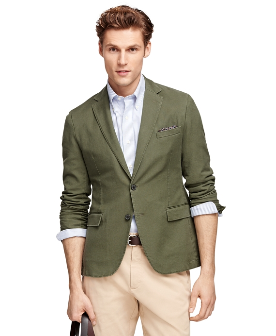 Cotton Sport Coat Dark Green