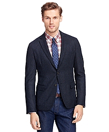 Navy Herringbone Sport Coat