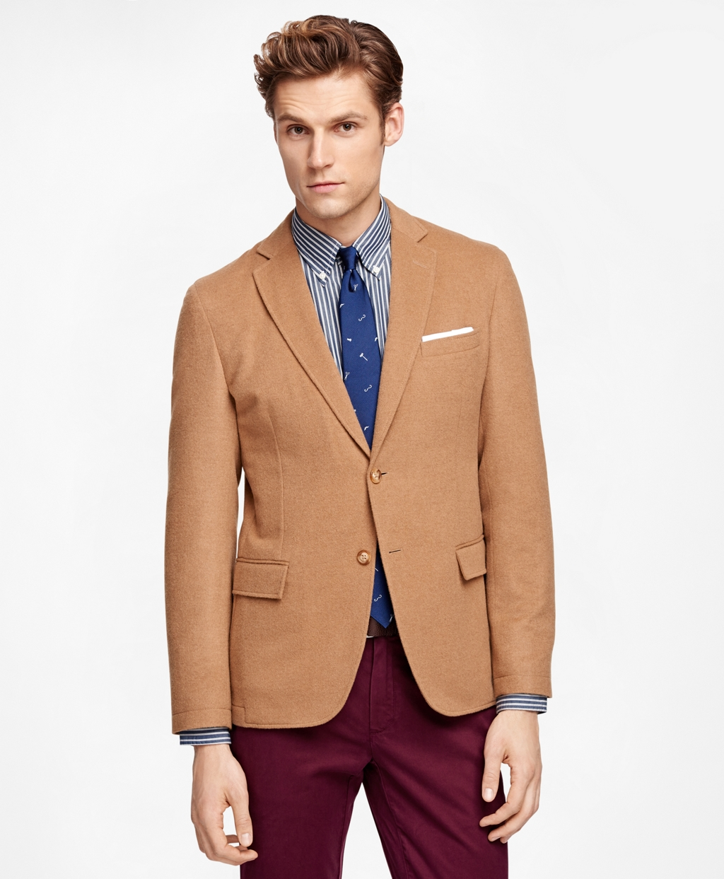 Men's Wool and Camel Hair Sport Coat | Brooks Brothers