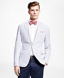 Horizontal Stripe Seersucker Sport Coat