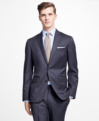 Checkered Stretch-Wool Sport Coat