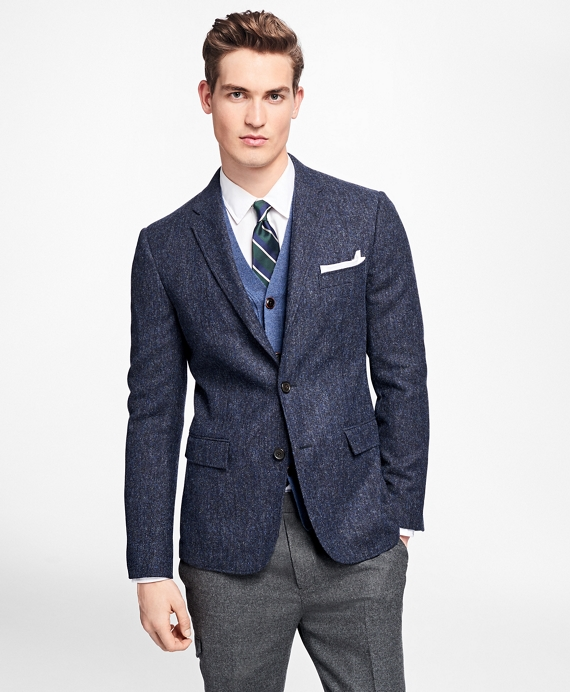Three-Button Donegal Sport Coat Navy