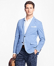 Two-Button Garment-Dyed Stretch Sport Coat