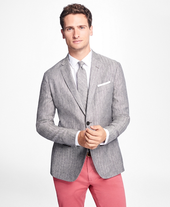 Two-Button Herringbone Linen Sport Coat