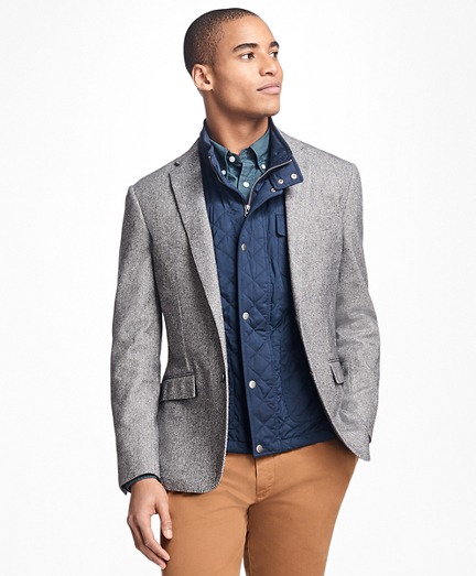 Herringbone Cotton-Wool Sport Coat